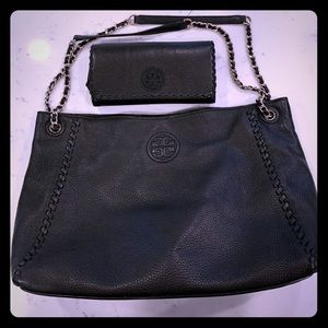 Tory Burch bag and wallet